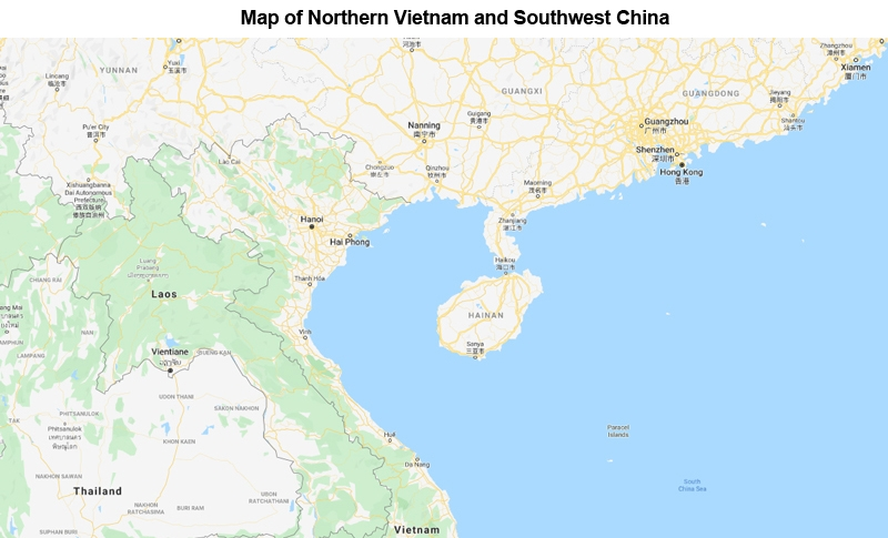 Map: Northern Vietnam and Southwest China