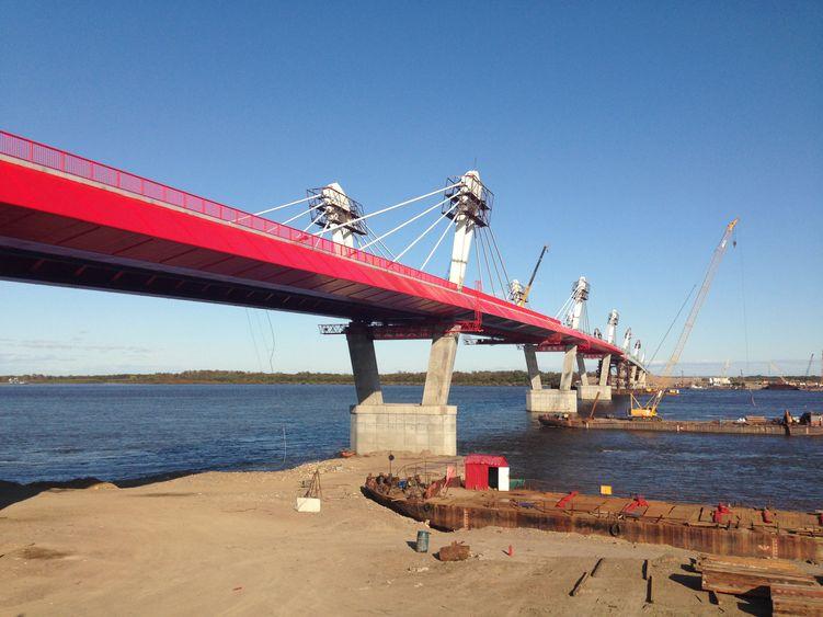 圖:中俄黑龍江公路大橋中方黑河段