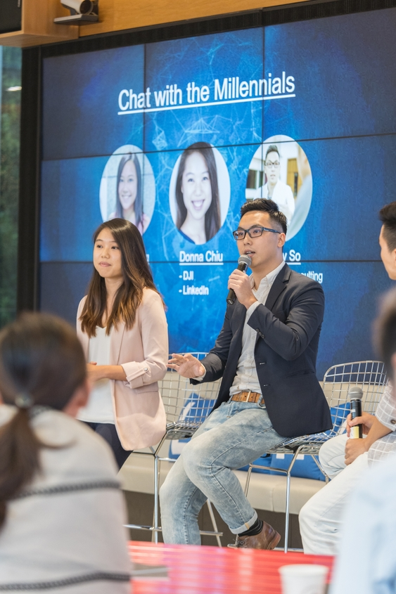 Photo: Anthony So sharing new recruitment trends with the new generations