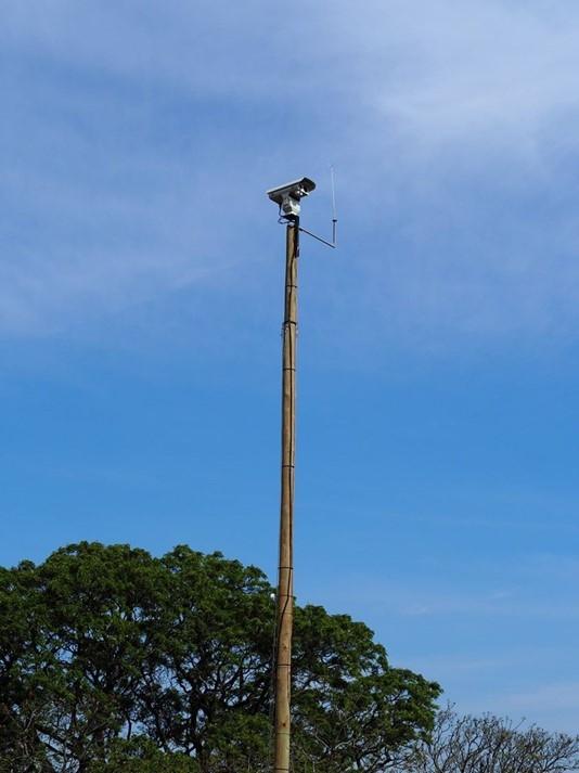 相片: 视野机械人在南非测试的智能火险监控报警系统。