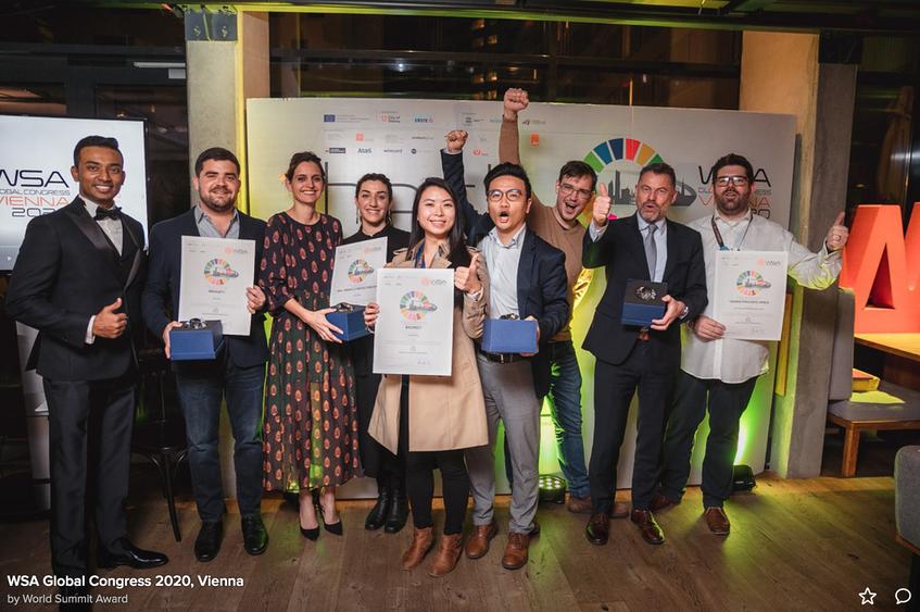 Photo: RaSpect, one of the winners of the World Summit Awards (WSA) in Smart Settlements & Urbanisation 2019.