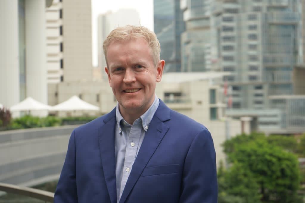 相片: 英國駐香港總領事館貿易與投資副總監紀立勤(James Gallagher)