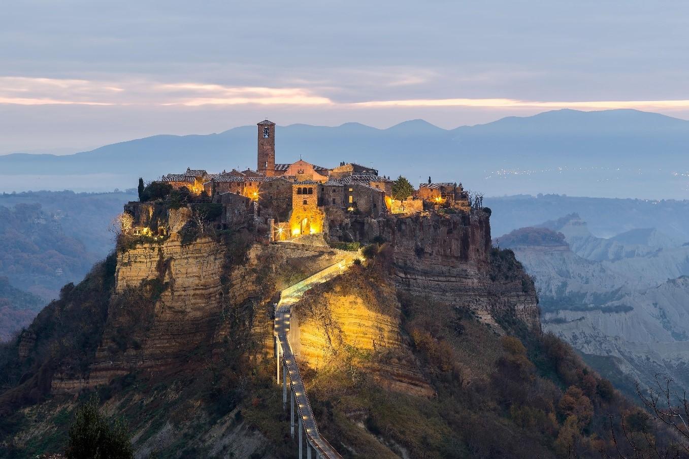 Photo: The hill town of Civita di Bagnoregio, a favourite Central Italian tourist destination for EU and Chinese visitors alike. Photo Source: Italian National Tourist Board/Regione Lazio